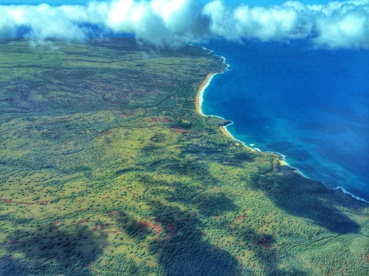 West End Molokai From the Air © lynette sheppard